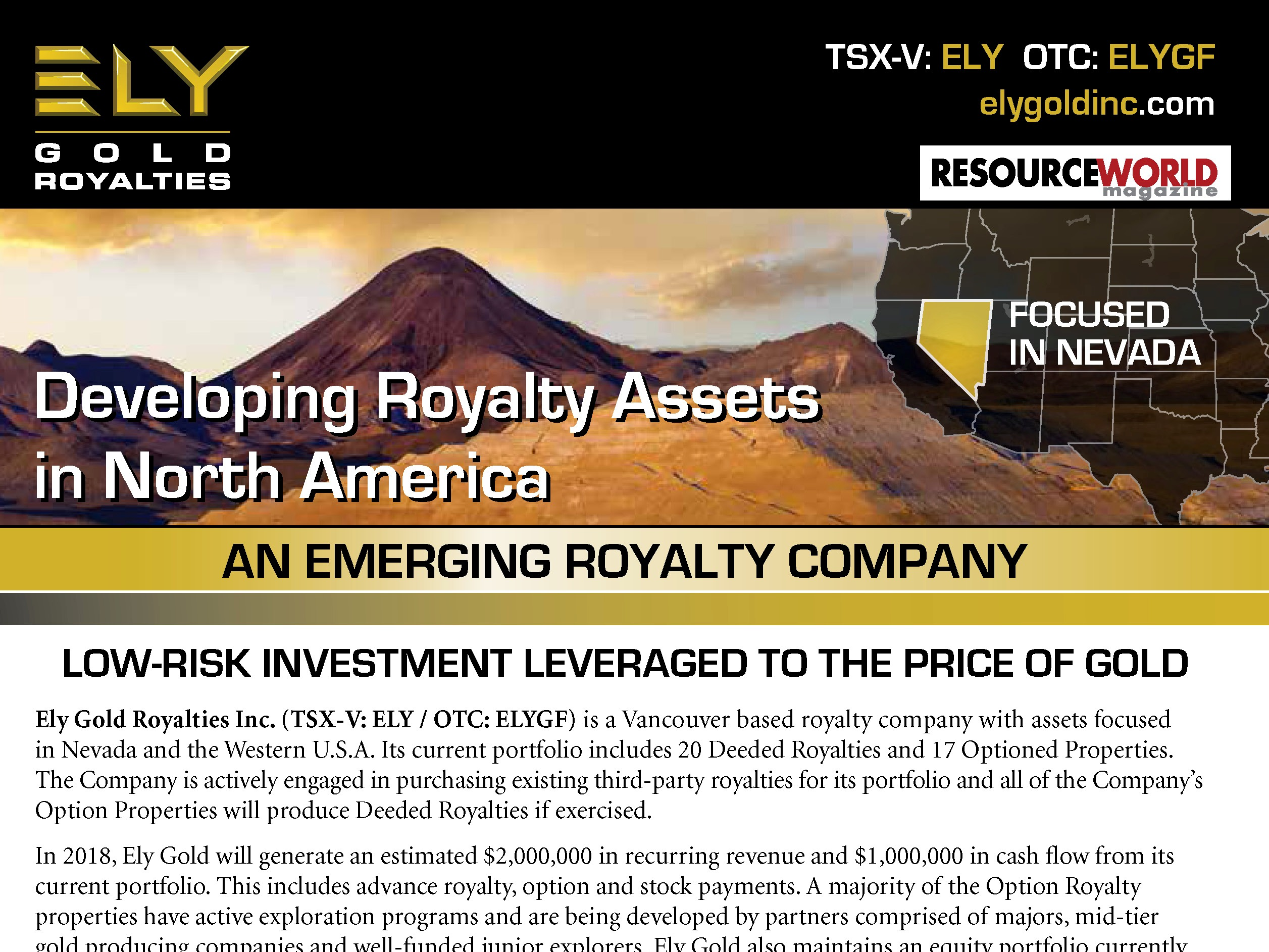 Resource World Magazine Advertisement